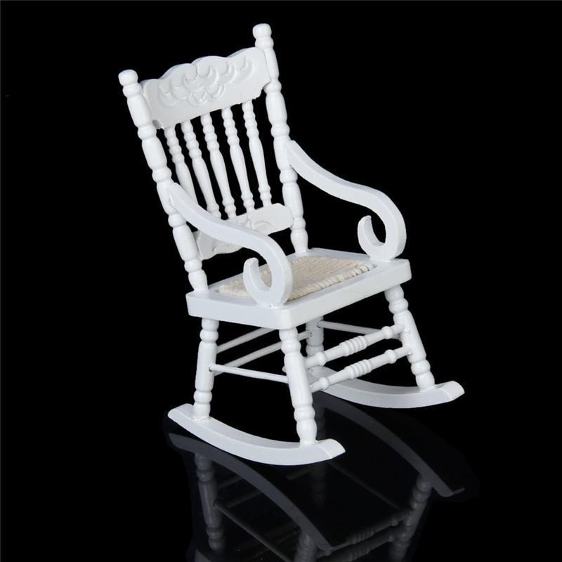 Prime 1 12 Miniature Dollhouse Wooden Rocking Chair Model White Really Cute Small Doll House Furniture Miniature Toys For Dollhouse From Paradise13 33 33 Creativecarmelina Interior Chair Design Creativecarmelinacom