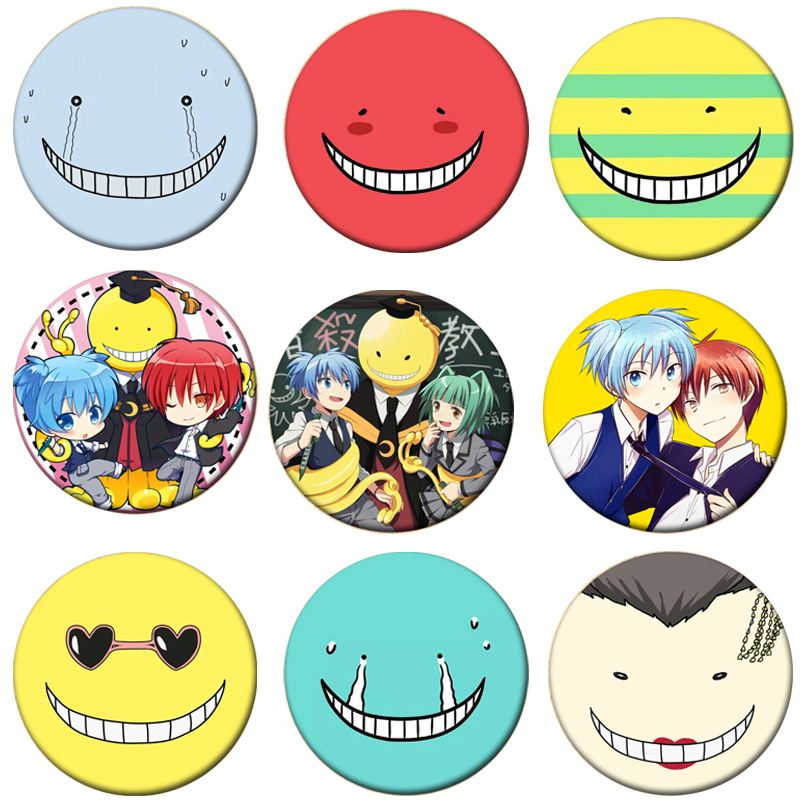 1pcs Assassination Classroom Cosplay Badge Korosensei Brooch Pin Collection Badge For Backpack Clothes