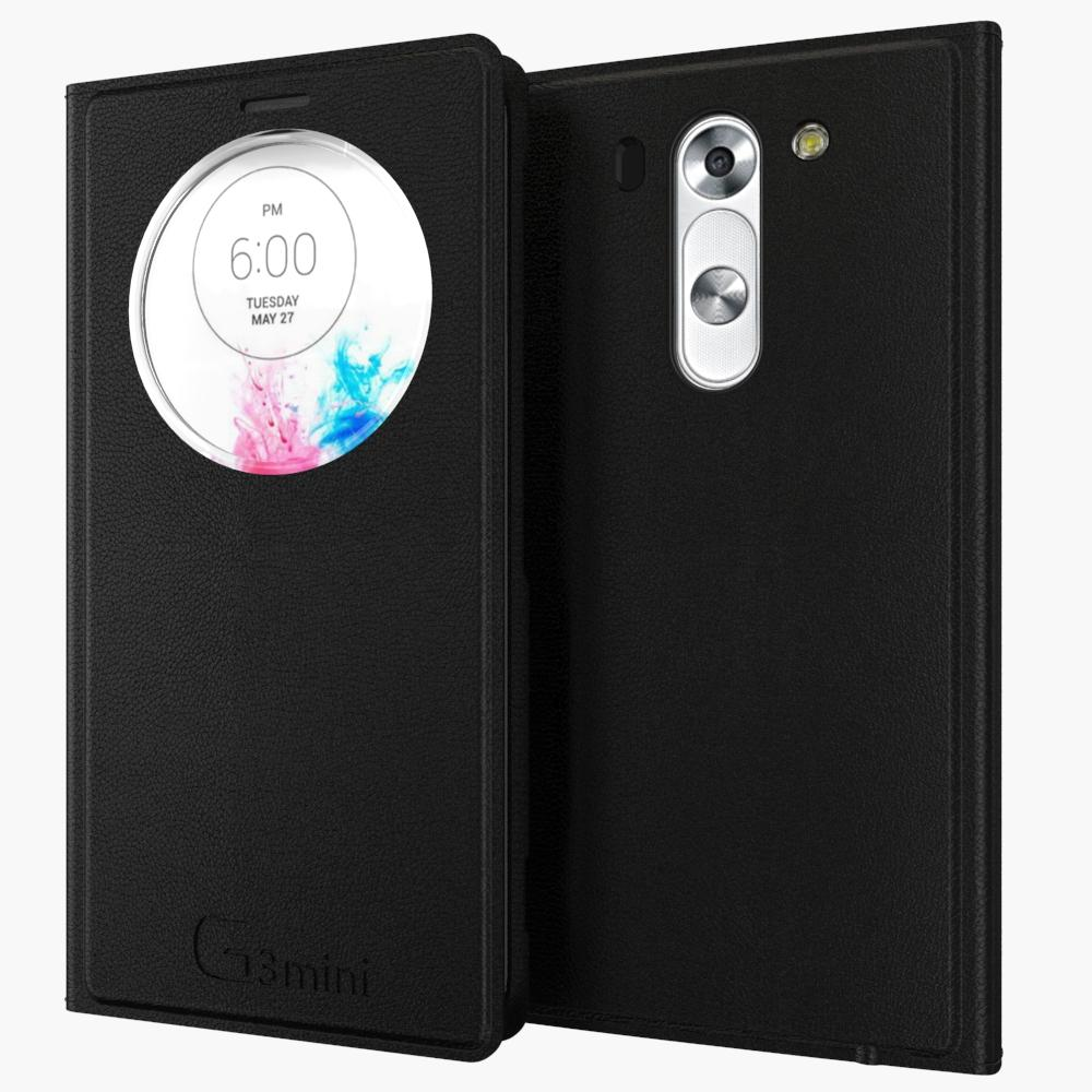 SHENZHEN LIGA TRADE CO., LTD  Auto Dormancy Function for LG G3 Beat / G3 S G3S / G3 mini D722 D725 D728 D724 Smart View Window Slim Flip Leather Case