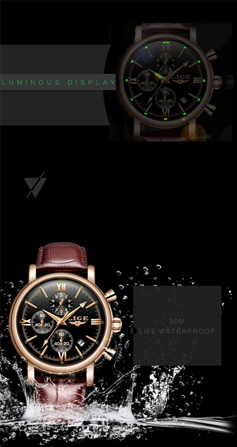 HTB1LLMVaFY7gK0jSZKzq6yikpXaA 2019 LIGE Business Leather Fashion Waterproof Quartz Watch For Mens Watches Top Brand Luxury Male Date Clock Relogio Masculino