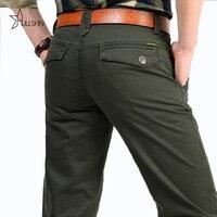Хаки, 100% чистый хлопок, мужские уличные штаны для груза, спортивные, оригинальный бренд, настоящие мужские свободные штаны, брюки, AFS JEEP 2153