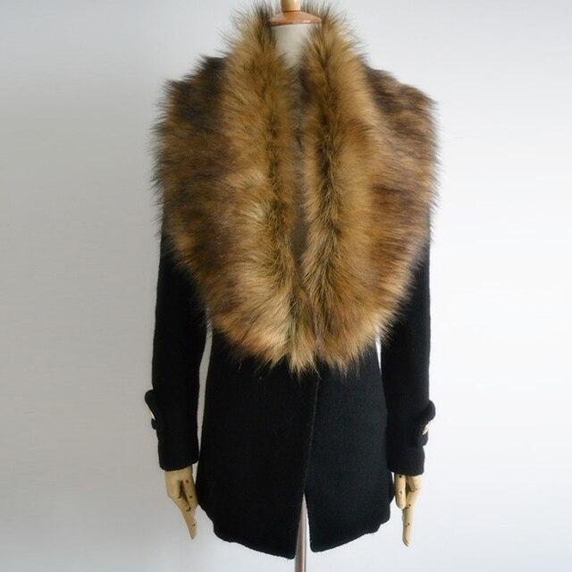 New Fashion Big Fur Collar Scarf Women Faux Fur Collar Lady Shawl Multi Colors Men Women Generic Free Shipping