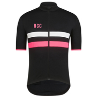 2018 rcc Classic Reflective stripe cycling jersey short sleeve top quality cycling shirt road mtb bike cycling gear free shi
