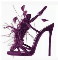 Newest Design 2017 Women Summer Plume Peep Toe Hand Made Hollow Out Sandals High Heels Fashion