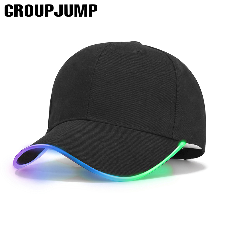 2018 New LED Light Baseball Cap Men Glow In Dark Caps Women Snapback Cap Casual Fashion Unisex Hat Party Bone Men Gorras novelty women men winter warm black full face cover three holes mask beanie hat cap fashion accessory unisex free shipping