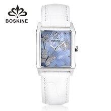 Butterfly rectángulo divertido relojes mujeres de moda de cuero reloj de señoras 2017 original de la mujer de cuarzo reloj de pulsera relogios feminino