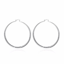 Best selling new 925 silver jewelry geometric cutting pattern women exaggerated silver earrings are not allergies