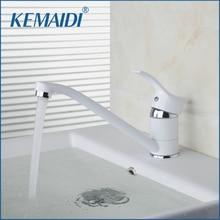 KEMAIDI Lang Kurz Einzigen Griff Weiß Malerei Mixer Heißer Und Kalter Mischer Massivem Messing Waschbecken Wasserhahn Bad Wasserhahn
