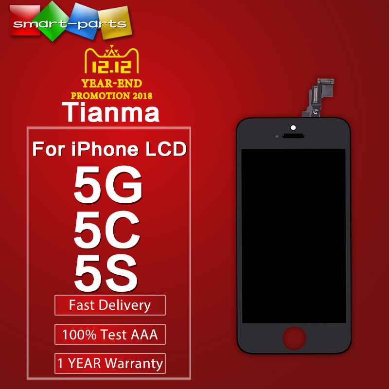Premium Tianma LCD For iPhone 5 5S SE 5C LCD Display Screen Touch Digitizer Full Assembly