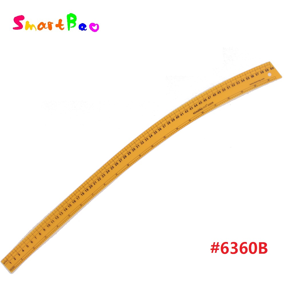 60 Cm Durable Plastic Vary Form Curve Ruler With Sandwich Line For Handicraft Pattern Making  For Sew Area  1.2mm Thick  #6360B
