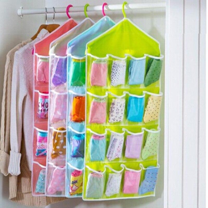 casa bolsillos puerta colgando bolsa de zapato colgador de la rejilla de tidy organizador
