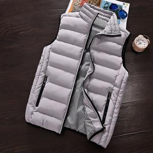 Image 2 - Vest Men 2020 New Autumn Winter Warm Sleeveless Jacket Waistcoat Mens Vest Fashion Casual Coats Mens 5XL