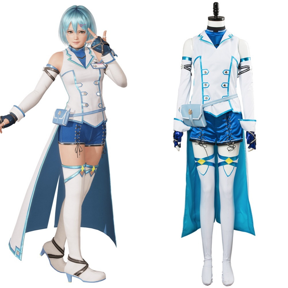 Game Dead or Alive 6 Nico Cosplay Costume The Lightning Technomancer Fancy Dress Costume Outfit Halloween Cosplay Costumes Made