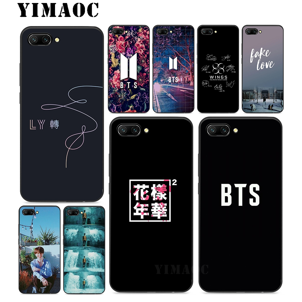 the best attitude e8d24 7f3dd Bts Fake Love K Pop Soft Silicone Case For Huawei Honor Mate 10 P20 P9 P8  Smart Y6 6A 7A 7X 7C Pro Lite