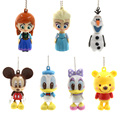 2017 Elsa Anna Doll Toys PVC Action Figures Key Chains Mickey Donald Daisy Duck Hanging Pendant Toy 5-8cm AF1282