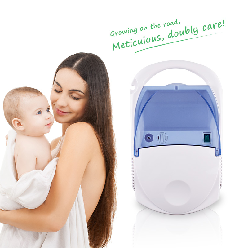 Medical Household Nebulizer Health Care Asthma Inhaler Mini Automizer Inhale Ultrasonic for Children Adult 100% Original cofoe portable ultrasonic nebulizer medical home health care portable inhaler mini dolphins cartoon designed 2017 free shipping