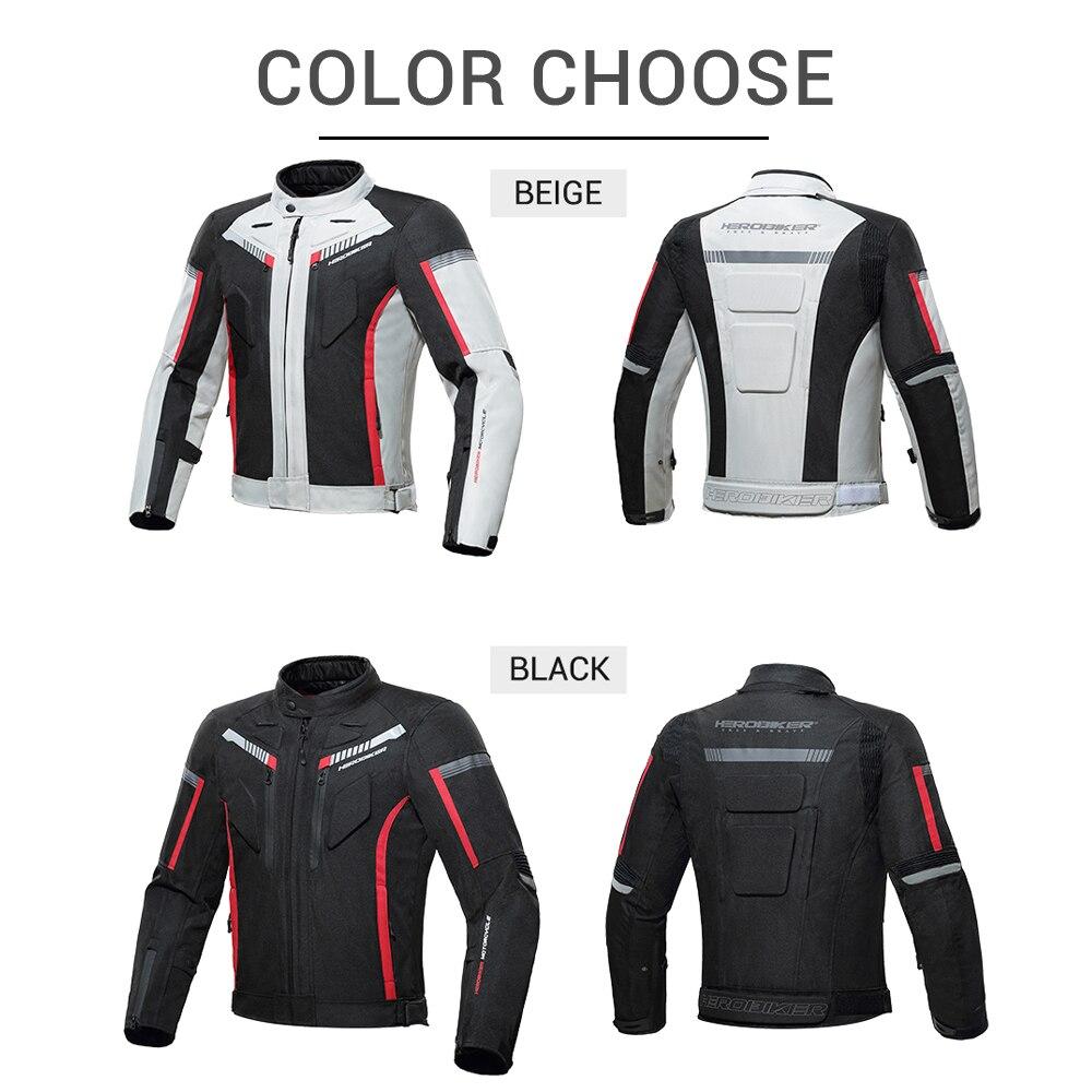 HEROBIKER otoño chaqueta de invierno de la motocicleta impermeable a prueba de viento chaqueta de montar de carreras de Moto ropa de protección - 3