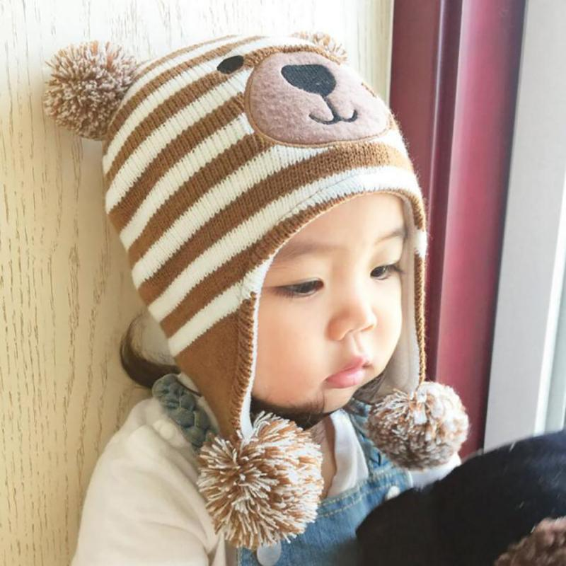 Baby Hat autumn Caps For Baby Boys Girls Children's Winter Hats Child Crochet Earflap Cap Photo Props B4 кровать из массива дерева hongyi furniture 1 8