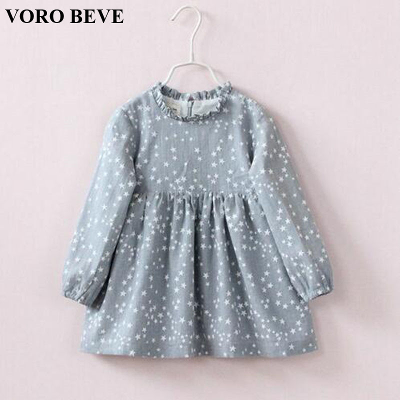 VORO BEVE Fashion Kids Clothing 2017 Dresses for Girls Princess Style Pattern Girl Dress Fashion Dress