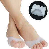 3Pair Silicone Gel Frontfoot Pads Soft Pointe Toe Pads Protectors For Pointe Ballet Shoes Pain Relief Anti Slip Cushion Pedicure Skin Care