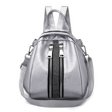 Women Backpack Hot Sale Fashion Casual Quality Bead Female Shoulder Bag PU Leather Backpacks Tote Bags for Girls Student mochila