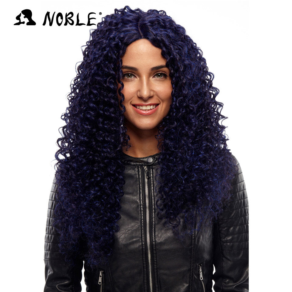 Noble Hair Products Paryk 26 tum lång Curl Cosplay Elastic I Part - Syntetiskt hår