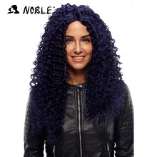 Noble Hair Products Paryk 26 tum lång Curl Cosplay Elastic I Part Lace Syntetisk U Part Parys Svart Kvinnor Gratis frakt