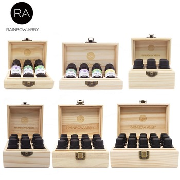 3/4/6/9/12/15 Grids Wooden Essential Oil Natural Pine Wood Aromatherapy Boxes 5-15ml For Home Decor Handmade Crafts 85 grids wooden essential oil box solid wood case frame aromatherapy bottle storage large storage box pine handmade