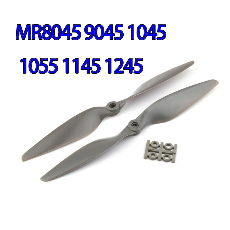 2 Pair Gemfan MR8045 9045 1045 1055 1145 1245 Nylon Propeller CW CCW Props Blades 4-Axis Multi Axis RC Airplane Quadcopter image