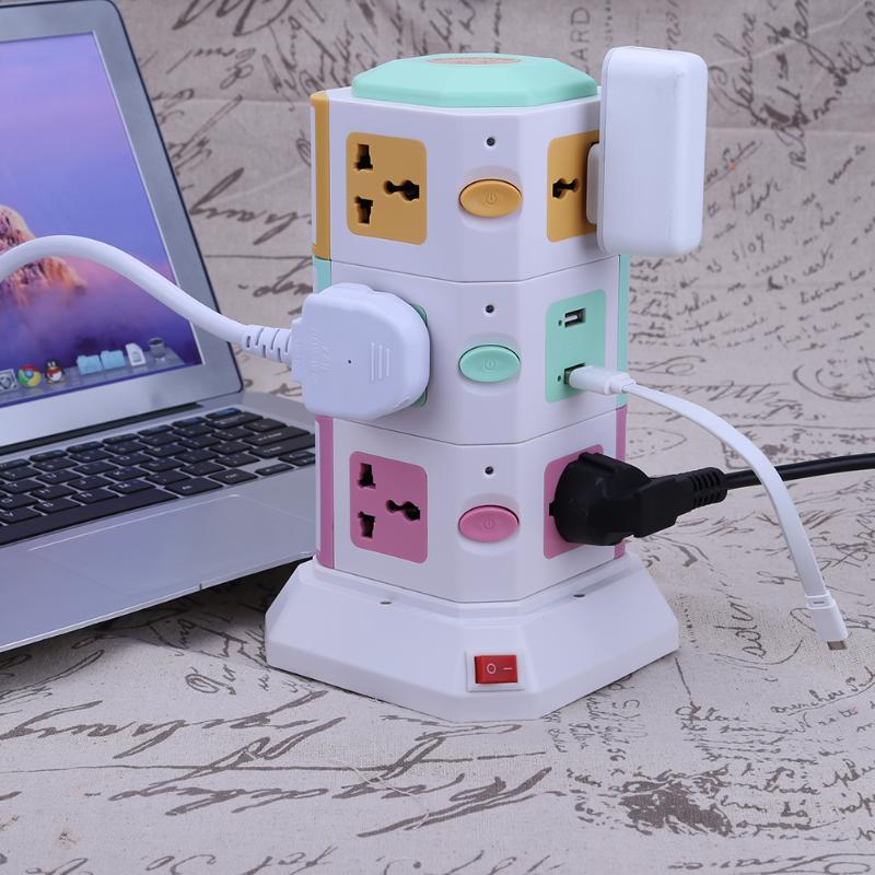3 Layer Power Socket Universal Smart Electrical Socket Plugs 11 Outlet 2 USB Ports Surge Protector Power Board US EU UK Plug hot3 Layer Power Socket Universal Smart Electrical Socket Plugs 11 Outlet 2 USB Ports Surge Protector Power Board US EU UK Plug hot