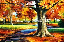 handmade landscape knife oil painting K109