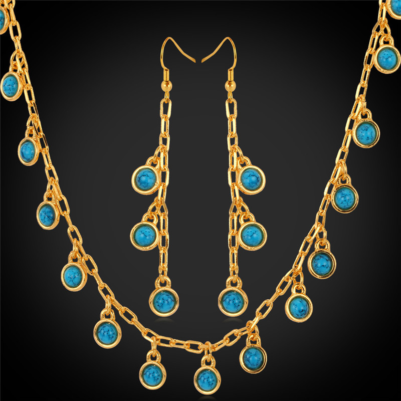 New turquoise stone gold necklace images WF38