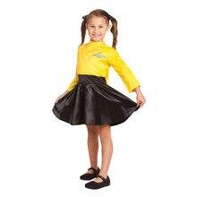 Elbise kadar Emma en Wiggles bu muhteşem sarı ve siyah kıyafeti prenses kostüm sarı bale Tutu elbise