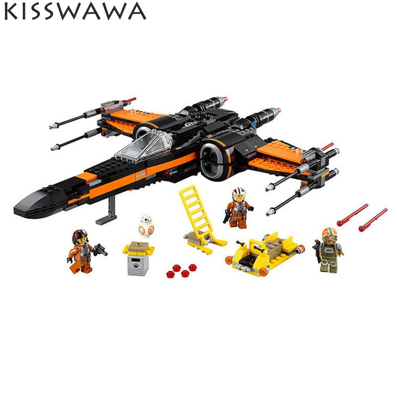 ФОТО KISSWAWA 05004 748 Pcs First Order Poe X-wing Fighter Assembled Toy Building Block Bricks Set Toys For Children