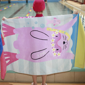 1PC 160X80cm European style 100% cotton towel no formaldehyde fast dry children large size adult cartoon beach towel CR-T5  5