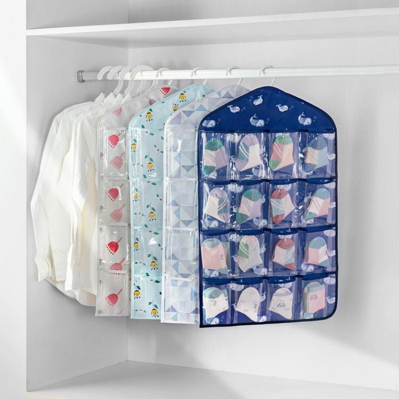 16 Πλέγμα Πτυσσόμενη Ντουλάπα Κρεμαστικές Τσάντες Εσώρουχα Bras ... 5fb0631e670