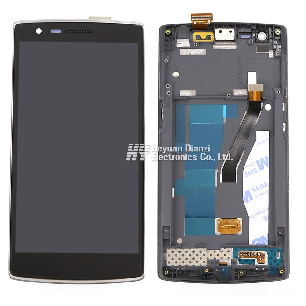 100 Original Lcd Display Touch Screen Digitizer Assembly With Frame For One Plus One For One