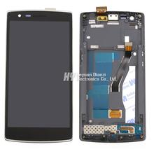 100% Original Lcd Display Touch Screen Digitizer Assembly With Frame For One Plus One For One Plus 1+ Free Shipping