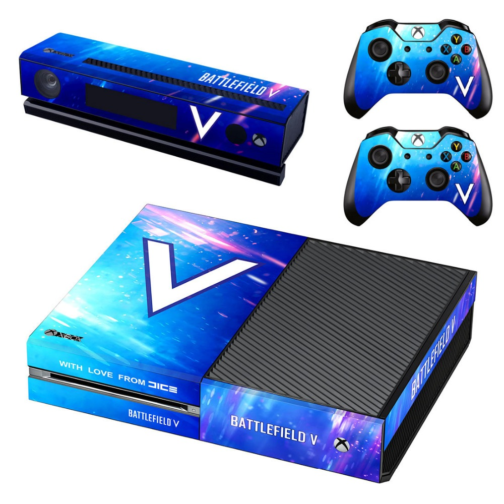 Battlefield 5 Skin Stickers For Xbox One Vinyl Skin Decals Sticker Console Controllers Protector Game Covers 2018 New Arrival