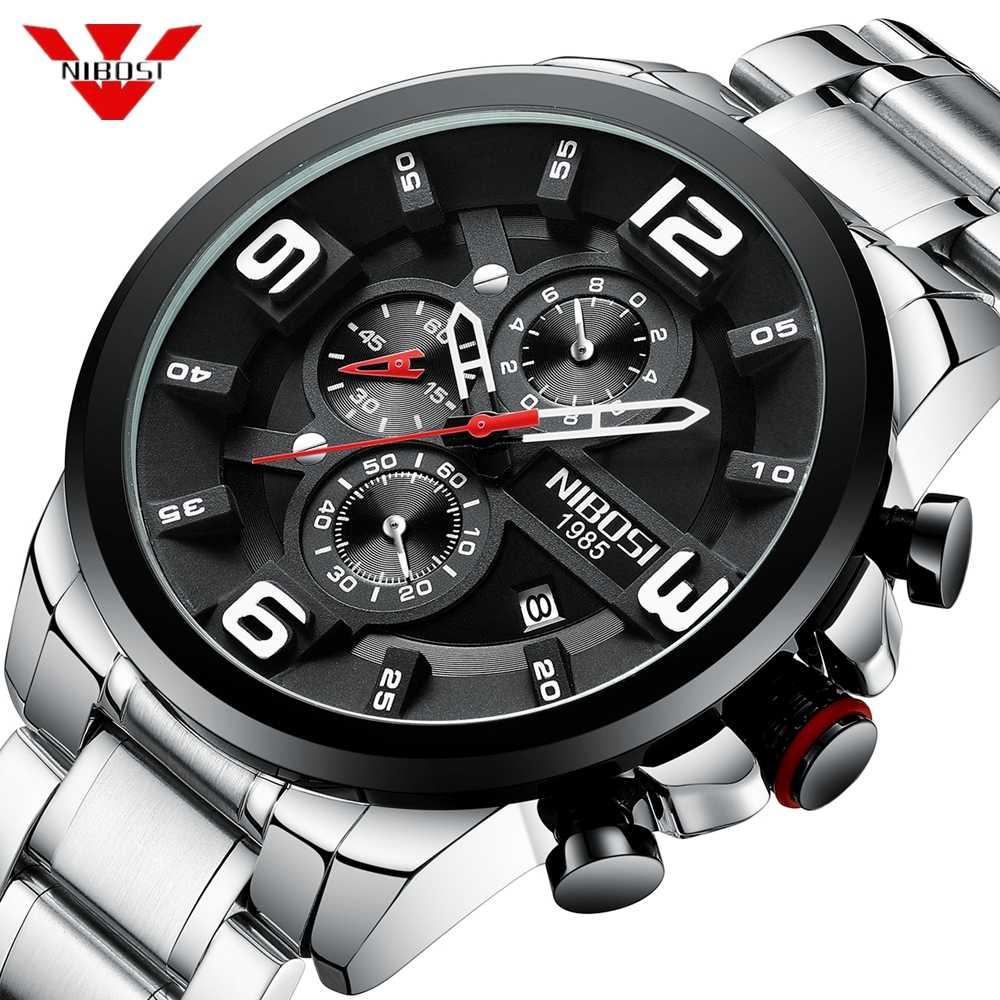 NIBOSI 2019 relojes para hombre, reloj de pulsera de cuarzo de marca superior de lujo, reloj deportivo creativo de acero inoxidable, reloj deportivo para hombre, reloj Masculino