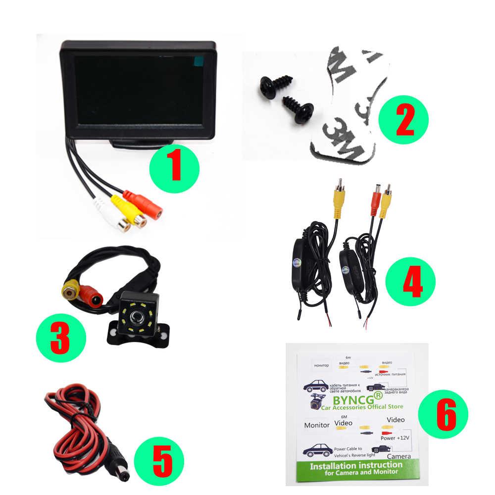 Wifi bezprzewodowa kamera tylna składany składany Monitor pojazdu System wideo Monitor do parkowania samochodu z kamerą cofania