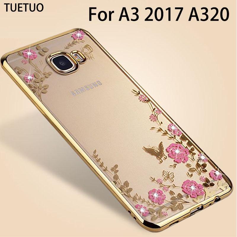 Original oro rosa cubierta de coque de tpu case para samsung galaxy a3 2017 a320