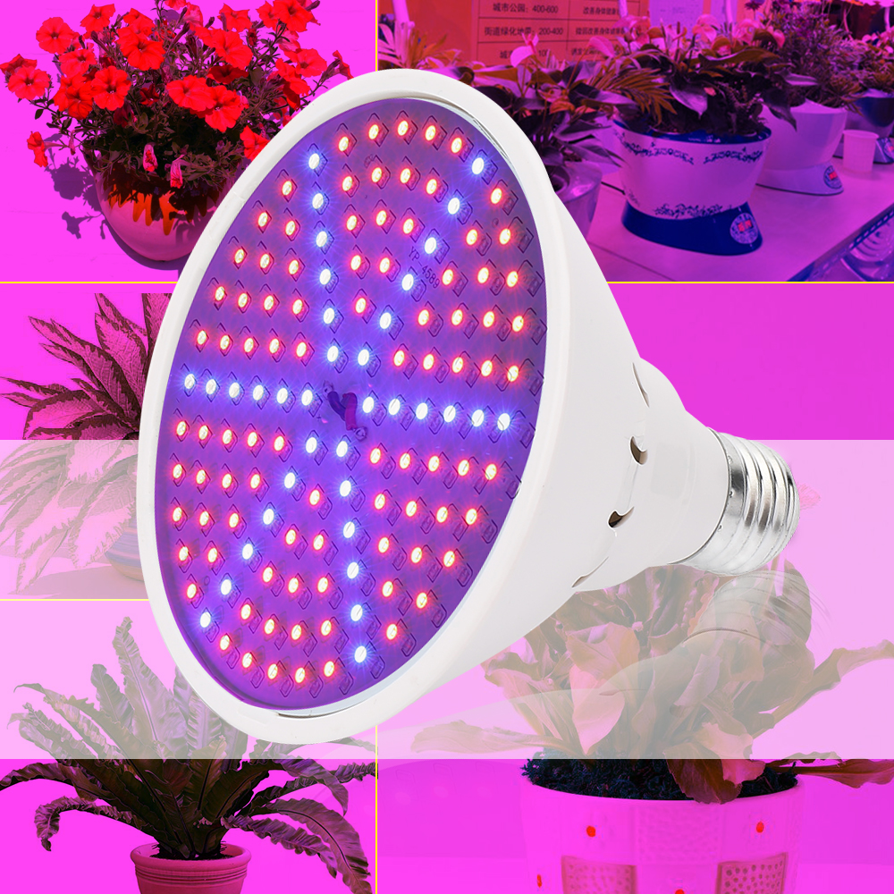 15W E27 90red+36blue SMD3528 Hydroponic Plant Grow Light AC85~265V