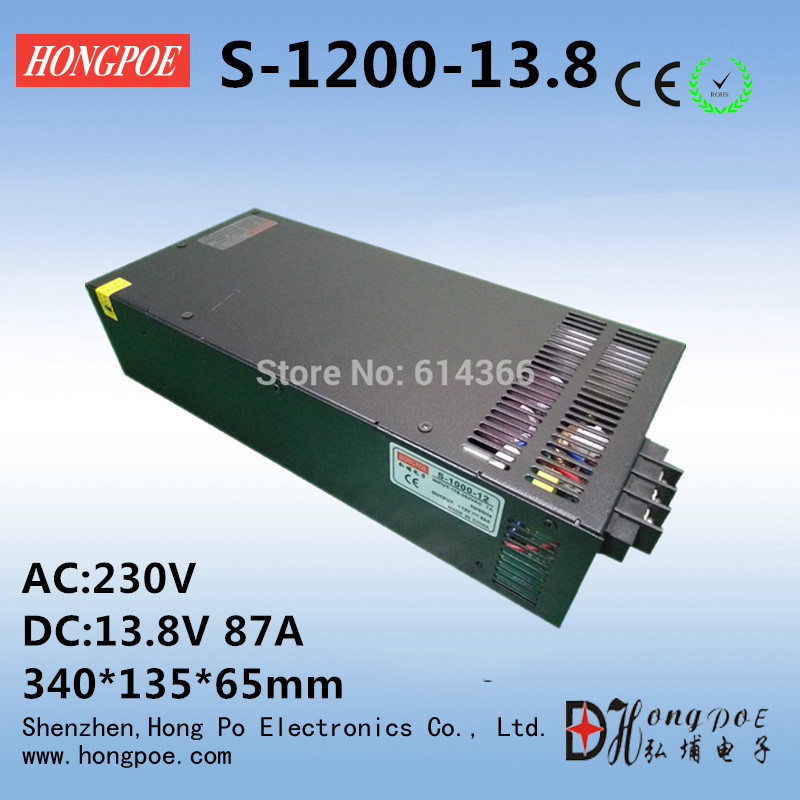все цены на 1PCS 1200w 13.8V power supply 13.8v 87A switch power supply 13.8v 87a switch power supply 13.8V S-1200-13.8 онлайн