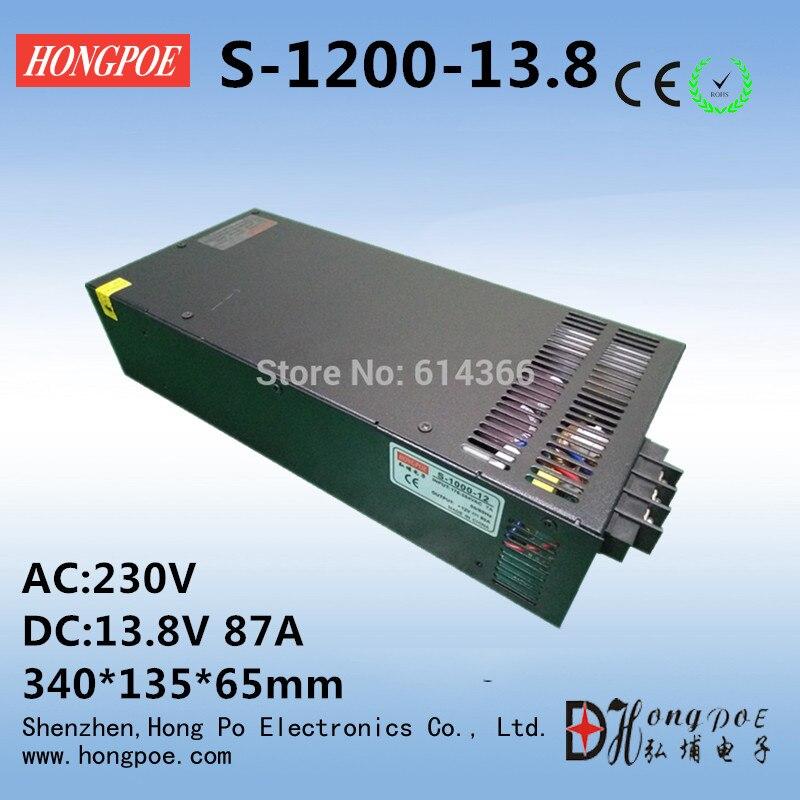 1PCS 1200w 13.8V power supply 13.8v87A switch power supply 13.8v 87a switch power supply 13.8V S-1200-13.8