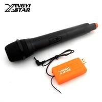 USB 3.5MM Jack Plug Receiver VHF Wireless Microphone System Karaoke Mic For PC Computer Multimedia Dynamic Microphone Microfono