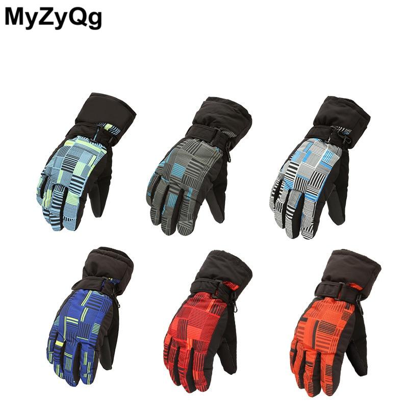 Winter Men Women Skiing Gloves Warm Mountaineering Winter Waterproof Thickened Warm Hiking Riding Gloves