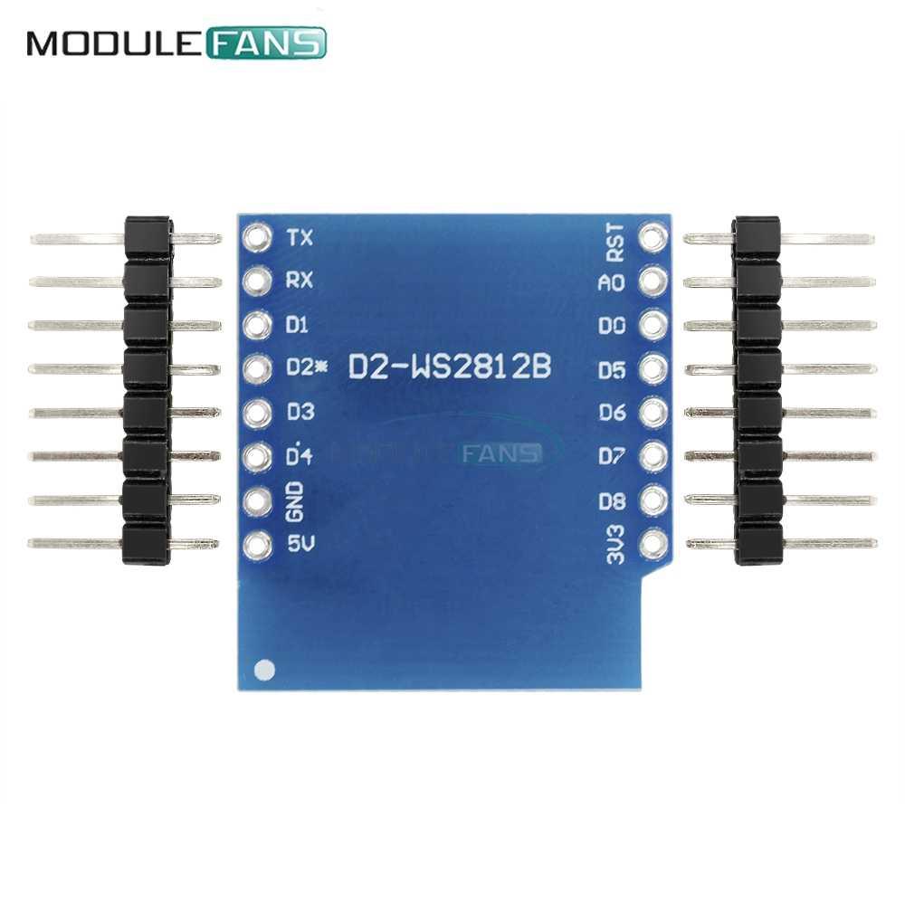 Esp8266 ため WeMos D1 ミニモジュール WS2812B RGB 用 WeMos D1 ミニ ESP8266 モジュールボードて層状ピン Esp8266
