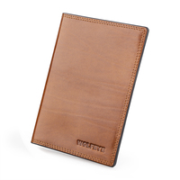 Italian Cattle Neck Geniune Leather Passport Cover Holder Porta Pasaporte Postcards Passport Case Travel Card