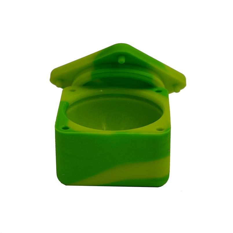 3pc 37ml Cubo Multi colores Contenedor de concentrado de silicona y - Organización y almacenamiento en la casa